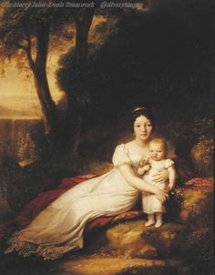 Jean-Antoine Gros - Hortense Eugenie de Beauharnais (1783-1837), Queen of Holland, with her son Charles Louis Napoleon.