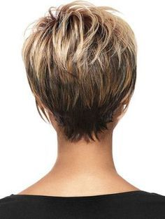 Hair Beauty - Women Blonde Ombre Inclined Bang Fluffy Short Straight European American Synthetic Wig - One Size Short Layered Haircuts, Short Hairstyles For Women, Hairstyles Haircuts, Wedge Hairstyles, Haircut Short, Short Hair Cuts For Women Easy, Stacked Hairstyles, Pixie Hairstyles For Thick Hair Undercut, Layered Haircuts Short Hair