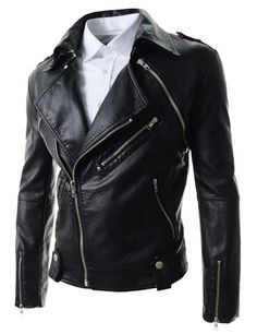 New arrivals 2015 men's leather jackets couro masculino bomber biker slim leather jackets for men