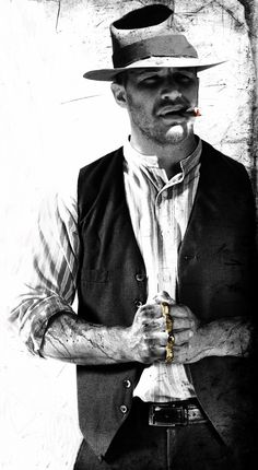 tom as forrest bondurant in lawless. his performance was absolutely amazing! he acted circles around the supposed main character played by shia labouef (sp?)