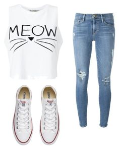 """""""casual"""" by chavez-mia on Polyvore featuring Miss Selfridge, Frame Denim and Converse"""
