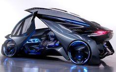 """Chevrolet revela carro elétrico autônomo com visual futurista Portas do FNR se levantam como """"asas""""; veja as imagens. Empresa também revelou o novo Malibu no Salão de Xangai. FOTO: GM Chevrolet FNR foi revelado em Xangai (Foto: Divulgação)"""