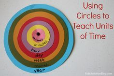 Tell Time: Learning Units of Time with Concentric Circles {Printable} by Andie Jaye at Kids Activities Blog