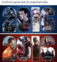 Notice how marvel is 4 diff movies. They should've put flash and arrow and ... Legends on 2016 if they wanted to make it seem even