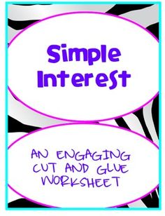 math worksheet : worksheets teaching and word problems on pinterest : Simple Interest Math Worksheets