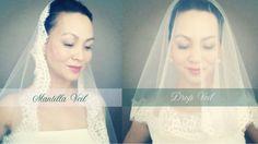 How to make a Mantilla Veil or Drop Wedding Veil
