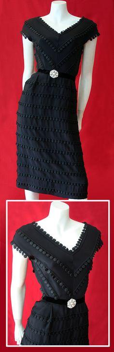 1950's black dress by Carlye