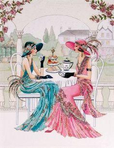 27 Ideas fashion ilustration vintage woman art deco for 2019 Arte Art Deco, Estilo Art Deco, Deco Retro, Retro Art, Art Nouveau, Decoupage, Images Vintage, Vintage Art, Vintage Woman
