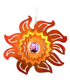 Take a look at this Red Carpet Flame Sun Spinner  by Backyard Oasis Boutique on #zulily today!