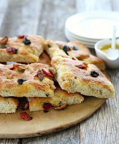This recipe for Focaccia Bread with Olives and Rosemary is foolproof, delicious, and a great bread for beginners. #bread #focaccia #recipes #easyrecipes #olives #rosemary #beginnerbaker