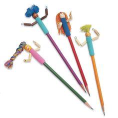 Pencil Buddies  http://familyfun.go.com/back-to-school/back-to-school-crafts/pencil-crafts/pencil-buddies-668861/
