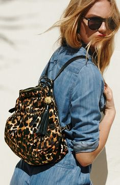 Vince Camuto Cris Nylon Leopard Backpack. Fashionable and functional.