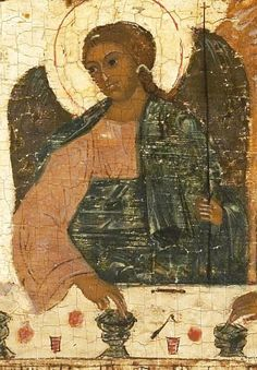 Detailed view: T173. Old Testament Trinity- exhibited at the Temple Gallery, specialists in Russian icons
