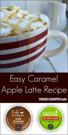 Super easy to Caramel Apple Latte recipe using a creative combination of Keurig Kcups!