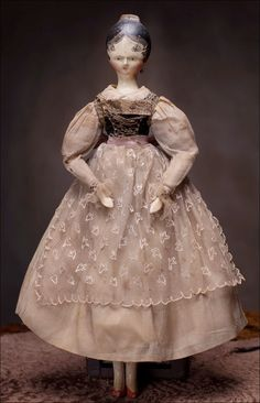 wooden doll, c. 1820    OK- so I want a doll...this is beautiful beyond belief/ I won't grow up.