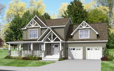 The Home Store offers a wide selection of two story modular home floor plans, including Colonial, Victorian, and Contemporary designs. Several of our 2-story house plans are traditional styles. The Henderson is a traditional floor plan with a craftsmen style exterior.