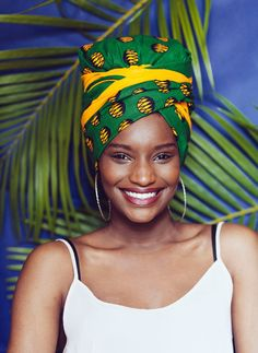 Pre sewn african prints jamaican turban / head wrap / headwrap / JAMSIKA