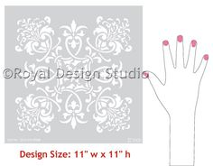 Wall Stencil | Medium Florence Tile Stencil | Royal Design Studio