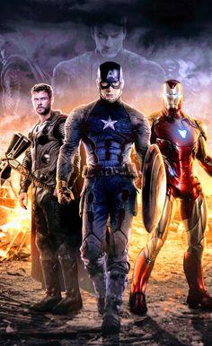 The Big Three: Captain America, Thor and Iron Man Marvel Avengers, Marvel Dc Comics, Films Marvel, Memes Marvel, Marvel Fan, Marvel Characters, Hawkeye Marvel, Captain America Wallpaper, Mundo Marvel