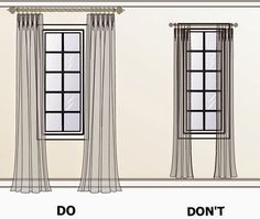 How to Hang Curtains to make the window look bigger