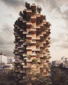 "2,157 Likes, 16 Comments - Chris Precht (@chrisprecht_penda) on Instagram: ""'Toronto Tree Tower' for CLT brand @tmber_building by #penda #dailypenda / #luxurylife…"""