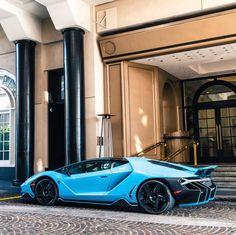 Lamborghini Centenario Coupe painted in Blu Cepheus Photo taken by: @adam_bornstein on Instagram Owned by: @hawaiibrad on Instagram