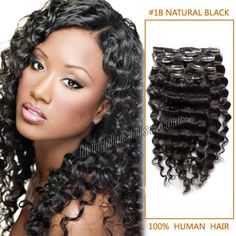 26 Inch Versatile #1B Natural Black Clip In Hair Extensions Curly  Type:Clip In Hair Extensions Fiber:100% Human Hair Extensions Color:#1B Natural Black Length:26 Inch (120g) Texture:Curly Qty:1 Set