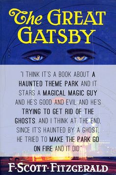 The Great Gatsby - A 6-year-old's take on  the cover.
