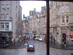 Edinburgh, Scotland. Taken from the 2nd floor of a starbucks. lol