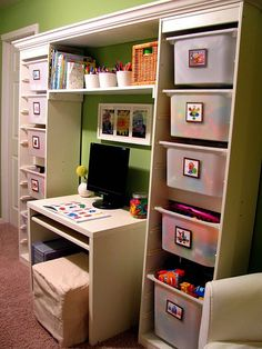Great idea to go over crafting area in play room or in bedroom with books over desk.