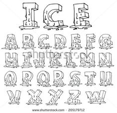 Graffiti Lettering Alphabet, Graffiti Font, Hand Lettering Fonts, Creative Lettering, Lettering Tutorial, Letter Fonts, Cool Lettering, How To Write Calligraphy, Calligraphy Letters