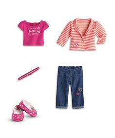 Bright Stripe Outfit for 18'' Doll