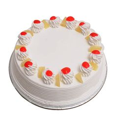 in A delightful all-time favourite pineapple cake with delicious icing and cherry on the top.Wish them a Happy Birthday or delight them on any occasion when you send our Pineapple Cake. Weight - 500 gm ₹ & 1 kg ₹ . Order Birthday Cake Online, Order Cakes Online, Cake Home Delivery, Online Cake Delivery, Eggless Pineapple Cake, Bachelor Party Cakes, Cupcakes Online, Butterscotch Cake, Fresh Cake