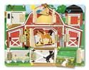 Hide and Seek Farm by Melissa and Doug. Here a chick, there a chick...behind each of the 9 hinged doors on this charming barnyard scene is a delightful, magnetic animal. Learning about animals while improving memory and fine motor skills will keep children busy and having fun on the farm for hours!