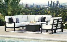 Westport Aluminum Sectional Patio Sofa & Lounge Chair Collection