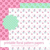 Free printable floral scalloped decoration tags - ausdruckbare Dekorationen - freebie | MeinLilaPark – digital freebies