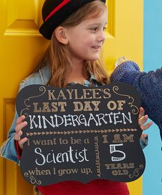 Take a look at this 'Last Day' Personalized Chalkboard Sign today!
