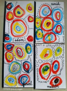 rond : Tous les messages sur rond - Page 2 - Enfants (pas si) sages Dot Painting, Painting For Kids, Art For Kids, Kindergarten Art Lessons, Art Lessons Elementary, Art Montessori, Dot Day, Straw Crafts, First Grade Art