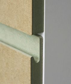 Oslo style MDF door with integrated handle - joinery RAW MDF BEAUTY