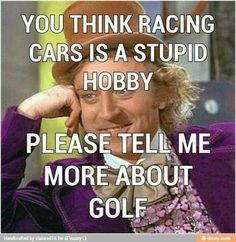 Hahaha ... Love racing