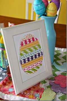 Paper Straw Easter egg... what a fun {and easy} springtime craft!