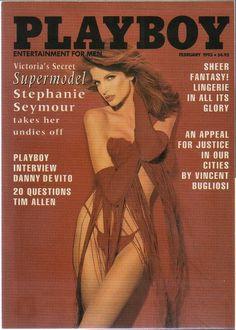 Items similar to MATURE - Playboy Trading Card February 1993 - Cover - Stephanie Seymour - Card on Etsy Hustler Magazine, Male Magazine, Magazine Wall, Issue Magazine, Pulp Fiction Art, Pulp Art, Stephanie Seymour, Danny Devito, Hugh Hefner