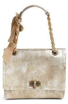 Lanvin 'Happy - Medium' Metallic Leather Flap Shoulder Bag would totally make me happy!