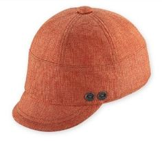 Pistil Designs Women's Haldi Cap, Orange, One Size by PISTIL Designs. $32.00. 65 % Wool, 35% Acrylic. Sophisticated style. Stylish and fun. Short brimmed jockey style cap. The Haldi cap from Pistil is a short brimmed jockey style cap. Button detail on right temple, contrast stitching and elastic back for fit. Lined.