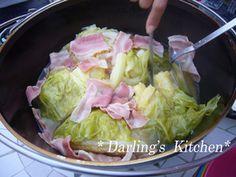 ダッチオーブンで✿丸ごとキャベツスープ