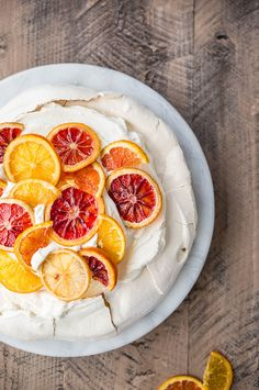 Pavlova with Mascarpone Coconut Cream and Candied Citrus (Gluten-Free) – Salted Plains