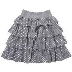Cute gray polka dot skirt  :)