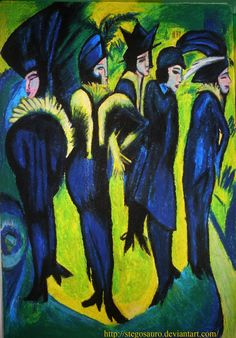 "Ernst Ludwig Kirchner ""Five Women at the Street"" 1913 Oil on canvas, Museum Ludwig, Cologne, Germany"
