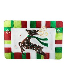 Take a look at this Reindeer Holiday Platter by LS Arts on #zulily today! $14 !!