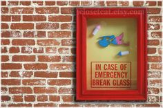 Baby Stork  In Case of Emergency  baby shower its a by ClosetCat